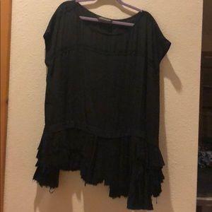 Black dress/blouse by All Saints